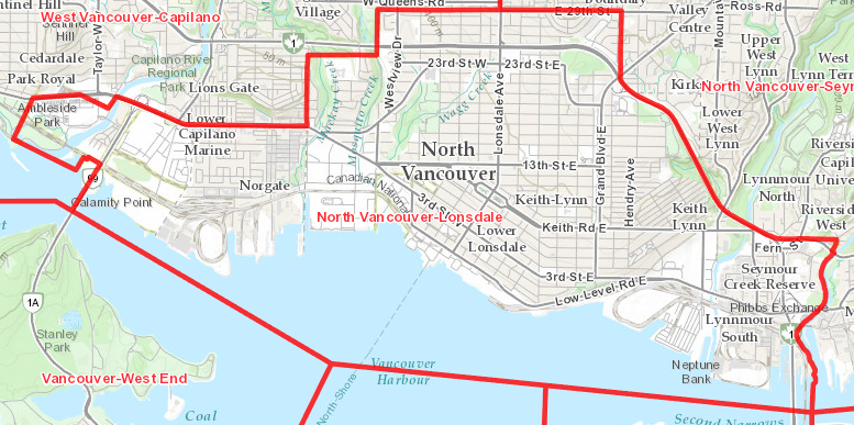 North Vancouver Map North Vancouver Lonsdale Riding   Bowinn MaBowinn Ma